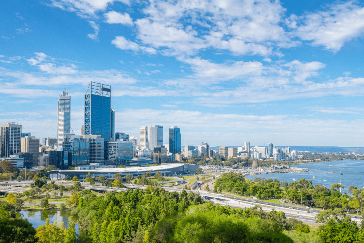 sunny weather in perth
